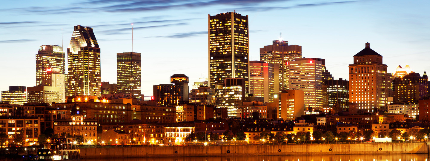 Montreal skyline accounting business